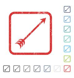 Arrow icon rubber watermark vector