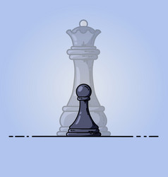 black pawn becomes queen vector image
