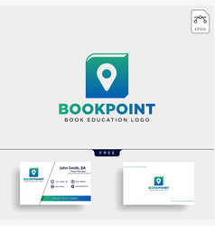 Book pin marker or navigation map simple line vector