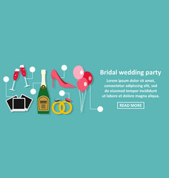 Bridal wedding party banner horizontal concept vector