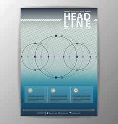 Brochure Template Business corporate background vector image