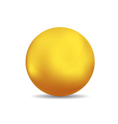 Bronze or gold spheres or ball vector