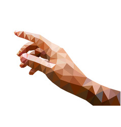 brown polygon right hand on white background vector image