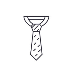 business tie line icon concept business tie vector image