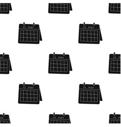 Calendar icon in black style isolated on white vector