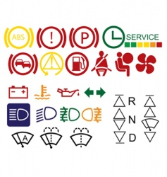 car dashboard signs vector image
