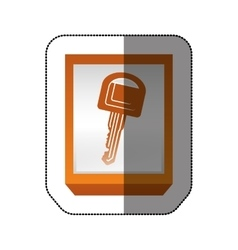 Car key isolated vector