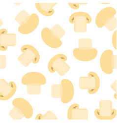 champignons seamless pattern vector image