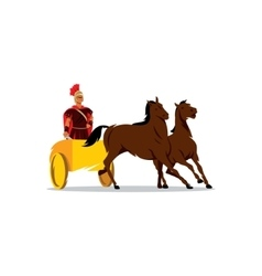 Chariot with a Roman gladiator sign vector