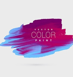 Colorful ink paint background template design vector