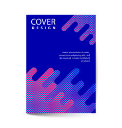 covers with flat dynamic design geometric shapes vector image