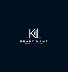Creative letter k financial chart logo design vector