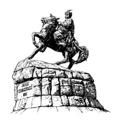 Digital drawing historic monument vector
