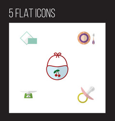 flat icon kid set of children scales nipple vector image