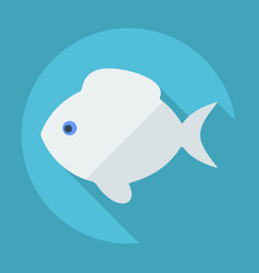 Flat modern design with shadow fish vector
