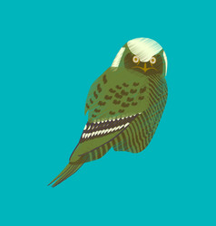 Flat shading style icon owl vector