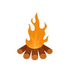 Forest fire icon flat style vector