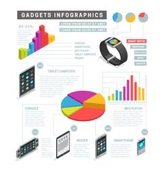 Gadgets Isometric Infographics vector
