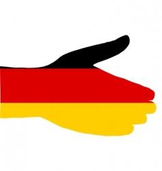 German handshake vector image