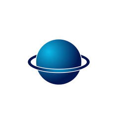 globe planet logo design inspiration isolated on vector image