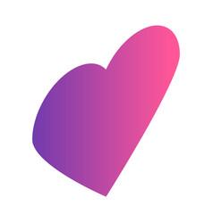 gradient heart icon isometric style vector image