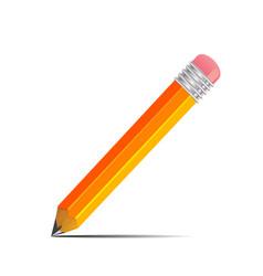 Graphite pencil with shadow vector