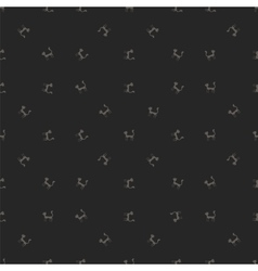 Grey Cats Seamless Pattern Animal Pets vector