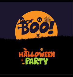 Halloween boo design with typography vector