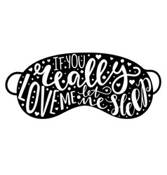 Hand drawn lettering with quote - if you really vector