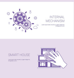 internal mechanism and smart house concept vector image