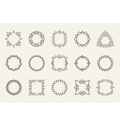 line emblems and badges frames for logo or vector image vector image