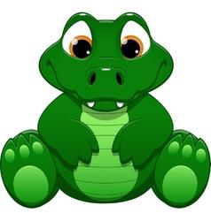Little crocodile vector