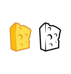 logos of cheese premium quality vector image