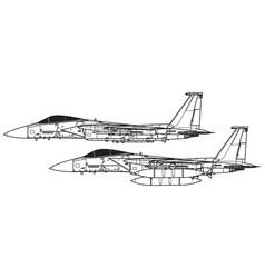mcdonnell douglas f-15 eagle vector image
