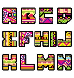 mexican alphabet part 1 vector image