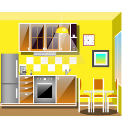 modern kitchen interior with furniture vector image