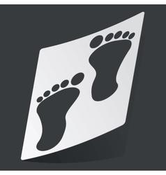 Monochrome footprint sticker vector image