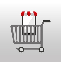 Online shopping cart design vector