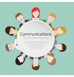 People communications icons vector image