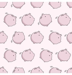 pig seamless puttern vector image