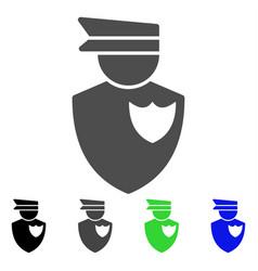 Policeman flat icon vector