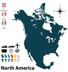 North, America, Map & Outline Vector Images (over 2,100)