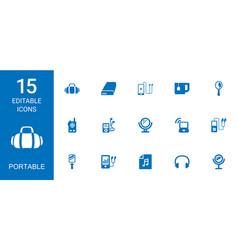 Portable icons vector