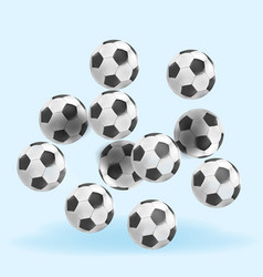 poster with soccer balls vector image