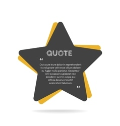 Quotation mark speech bubble Empty quote blank vector image