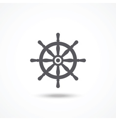 Rudder icon vector image