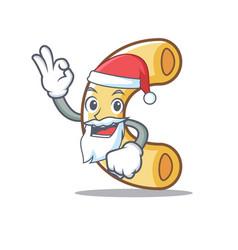 Santa macaroni mascot cartoon style vector