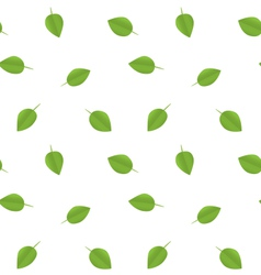 seamless ecology pattern with green leaves vector image