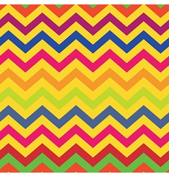 seamless pattern colorful chevron vector image
