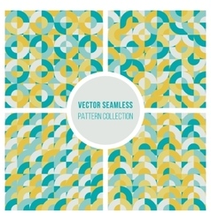 Seamless Teal Yellow Geometric Square vector